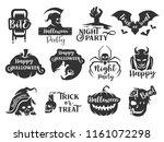 halloween sticker label.... | Shutterstock .eps vector #1161072298