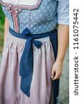 traditional bavarian dress ... | Shutterstock . vector #1161075442