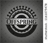 offspring black emblem. vintage. | Shutterstock .eps vector #1161075478