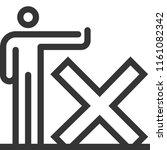 forbidden  bold line stick... | Shutterstock .eps vector #1161082342