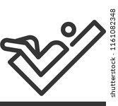 xxx  bold line stick figure... | Shutterstock .eps vector #1161082348