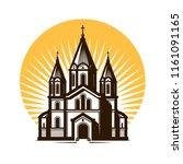 church logo or label. religion  ... | Shutterstock .eps vector #1161091165