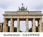 Small photo of Brandenburger Tor Brandenburg Gate famous landmark in Berlin Germany
