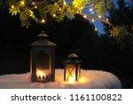 autumn garden decoration ... | Shutterstock . vector #1161100822