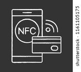 nfc technology chalk icon. near ...   Shutterstock .eps vector #1161105175