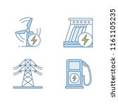 electric power industry color... | Shutterstock .eps vector #1161105235