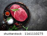 raw beef meat. fresh cut of... | Shutterstock . vector #1161110275