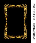 gold vintage frame on black | Shutterstock .eps vector #1161113152