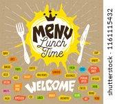 menu lunch time logo  fork ... | Shutterstock .eps vector #1161115432