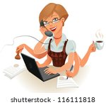 the secretary can easily handle ... | Shutterstock .eps vector #116111818