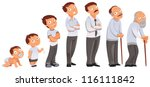 generations men. all age... | Shutterstock .eps vector #116111842
