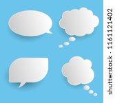 vector set of stickers of... | Shutterstock .eps vector #1161121402