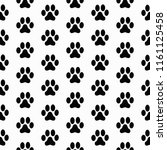 Cute Pattern With Paw Prints....
