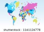 color world map vector | Shutterstock .eps vector #1161126778