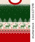 ugly sweater merry christmas... | Shutterstock .eps vector #1161127198