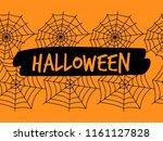halloween spiderweb seamless... | Shutterstock .eps vector #1161127828