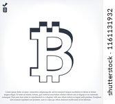 bitcoin vector icon  stock... | Shutterstock .eps vector #1161131932