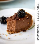 homemade chocolate rustic... | Shutterstock . vector #1161137368