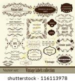 calligraphic vector | Shutterstock .eps vector #116113978