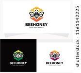 bee honey logo design template   Shutterstock .eps vector #1161142225