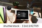 six sigma diagram  lean... | Shutterstock . vector #1161142705