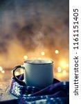 cozy atmosphere with winter... | Shutterstock . vector #1161151405