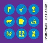 9 farmland icons in vector set. ... | Shutterstock .eps vector #1161156805