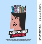 we are hiring designers... | Shutterstock .eps vector #1161162598