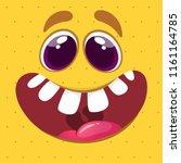 cartoon monster face. vector... | Shutterstock .eps vector #1161164785