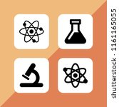 dna icon. 4 dna set with... | Shutterstock .eps vector #1161165055