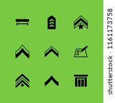 plank icon. 9 plank set with... | Shutterstock .eps vector #1161173758