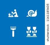 4 farmland icons in vector set. ... | Shutterstock .eps vector #1161185605