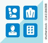 injury icon. 4 injury set with... | Shutterstock .eps vector #1161186088