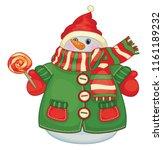 vector cute snowman cartoon...   Shutterstock .eps vector #1161189232