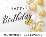 happy birthday typography... | Shutterstock .eps vector #1161190072