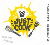 just cook  cooking school ... | Shutterstock .eps vector #1161190912