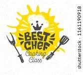 best chef  cooking school ... | Shutterstock .eps vector #1161190918