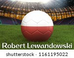 robert lewandowski on poland... | Shutterstock . vector #1161195022