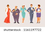group of rich people at a...   Shutterstock .eps vector #1161197722