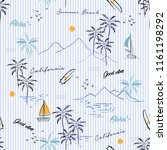 island seamless pattern in the... | Shutterstock .eps vector #1161198292