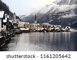 winter scenic view of village... | Shutterstock . vector #1161205642