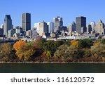 Montreal Skyline In Autumn ...