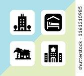 residence icon. 4 residence set ... | Shutterstock .eps vector #1161210985