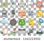 set of 20 transparent icons...   Shutterstock .eps vector #1161213532
