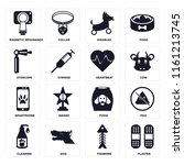 set of 16 icons such as plaster ...