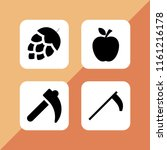 ripe icon. 4 ripe set with... | Shutterstock .eps vector #1161216178