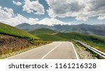 panorama road leading to mount... | Shutterstock . vector #1161216328
