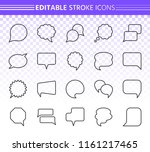speech bubble thin line icon... | Shutterstock .eps vector #1161217465