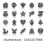 christmas gingerbread icon set. ... | Shutterstock .eps vector #1161217468