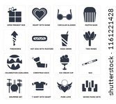 set of 16 icons such as seven...
